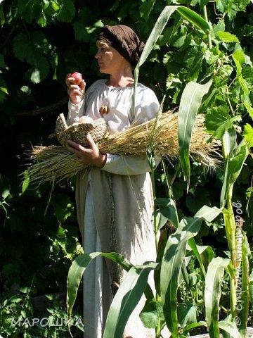 """на фестиваль """"Один день жизни средневекового города Укек"""" , на историческую площадку, пускали только при наличии """"правильного костюма"""" - пришлось пошиться! в этом костюме я и была на средневековом базаре с травяными веревками, травами-чаями, костяными иголками, моя роль - славянка 13 века   фото 1"""