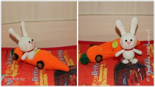Зайчик в морковомобиле по описанию  Марины Чучкаловой фото 1