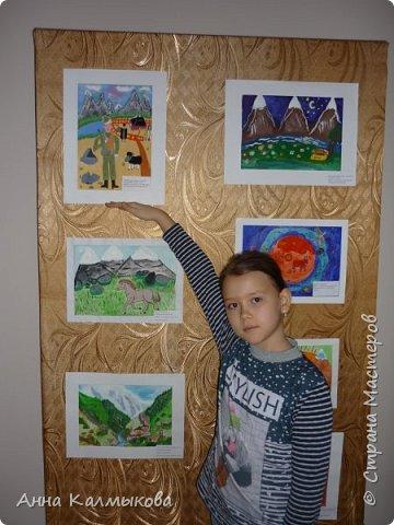 """Эта работа была выполнена к городскому конкурсу художественно-эстетического творчества по мотивам поэтических произведений Расула Гамзатова """"Мне все народы очень нравятся"""" фото 2"""
