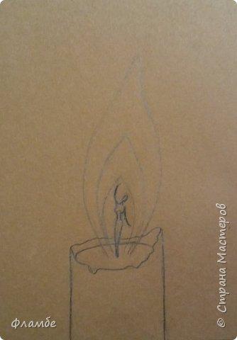Рисунок гуашью на крафте. Но, думаю бумагу можно взять любую тонированную, или просто белую. фото 2