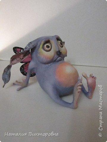 Всем, здравствуйте! Эльфик сделан на заказ!  Слеплен по рисунку Брайана Фрауда. Отдельно хочу сказать спасибо ,замечательному мастеру и просто хорошему человеку- нашей Галочке!   http://stranamasterov.ru/user/108361  Воспользовалась (нагло)  ее работой, для создания ,этого малыша! фото 2