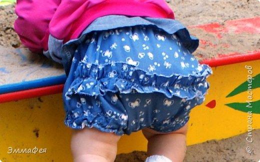 Трусики-шортики на подгузник для малышки фото 1