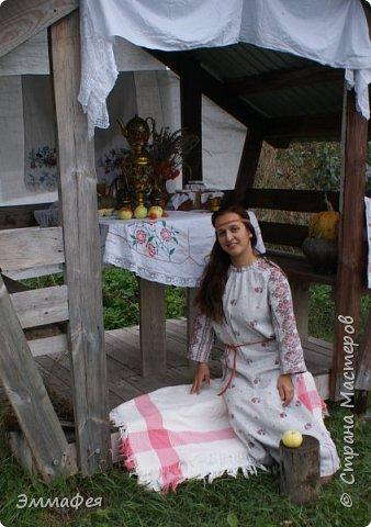"Платье-рубаха ""Славяночка"" фото 5"