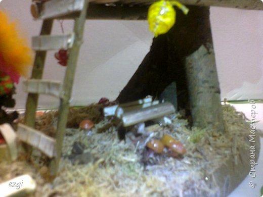 """Всем.привет) Избушку """"слизала"""" у Иринки, которая живёт здесь - http://stranamasterov.ru/user/313584 Её работы очаровывают.Свою избушку сделали для сына в школу. Мужу отдельное спасибо.До этого он строил только сараи для домашней скотины, причём, в натуральную величину))) А теперь, можно смело сказать, что построил дом) Пусть в одну комнату, но зато 36 квадратных.....сантиметров. А обустройством дома,уже занималась я, как и положено женщине))) фото 10"""