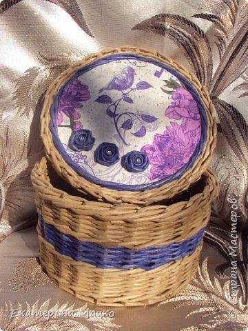 плетение из бумажной лозы фото 1