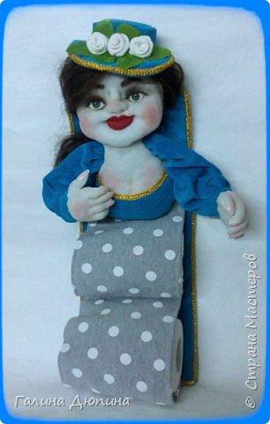 Вот такая брезгливая девушка под названием Мадам Фу-Фу у меня появилась.Кукла предназначена для хранения туалетной бумаги фото 2
