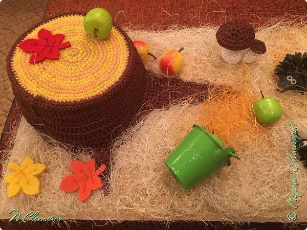 Здравствуйте, дорогие жители и гости СМ! Представляем Вашему вниманию осеннюю полянку, которую мы с дочкой сделали в детский сад фото 6