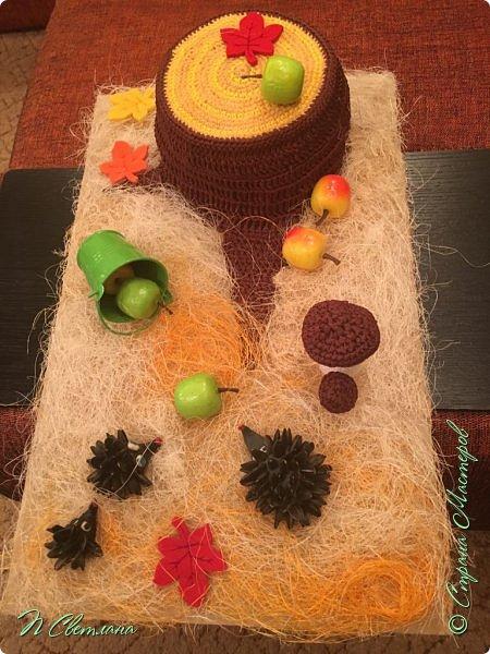 Здравствуйте, дорогие жители и гости СМ! Представляем Вашему вниманию осеннюю полянку, которую мы с дочкой сделали в детский сад фото 4