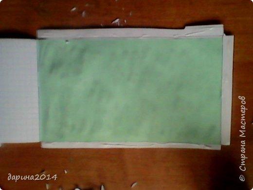 Здравствуйте,дорогие мастера и мастерицы.Сегодня я вам расскажу,как я сделала вот такой чудесный блокнотик. фото 7