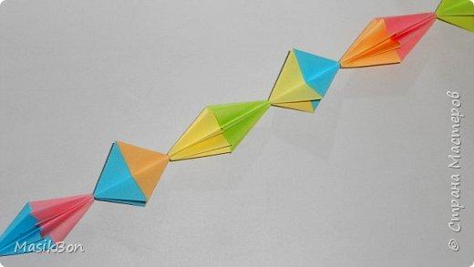 Гирлянда из бумаги оригами поделки на Новый Год 2018