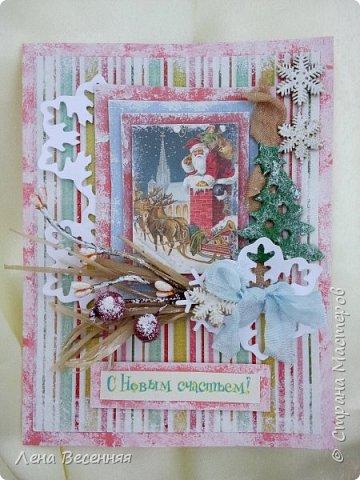 Здравствуйте, дорогие жители и гости СМ! Новогодние открытки сделанные ещё в 2014 году.  Открытки делаю к каждому новому году, но не успеваю загрузить к НГ. фото 6