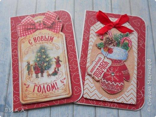 Новогодние мини открытки. (очень много фотографий) фото 3
