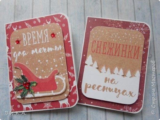 Новогодние мини открытки. (очень много фотографий) фото 5