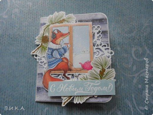 Новогодние мини открытки. (очень много фотографий) фото 10