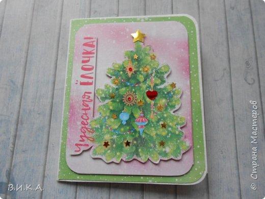 Новогодние мини открытки. (очень много фотографий) фото 20