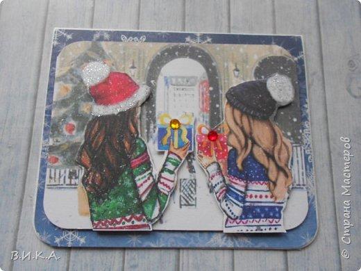 Новогодние мини открытки. (очень много фотографий) фото 12