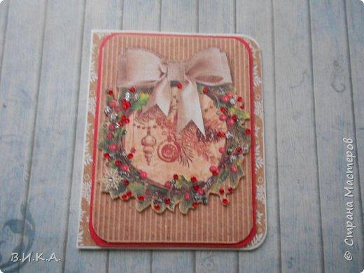Новогодние мини открытки. (очень много фотографий) фото 16
