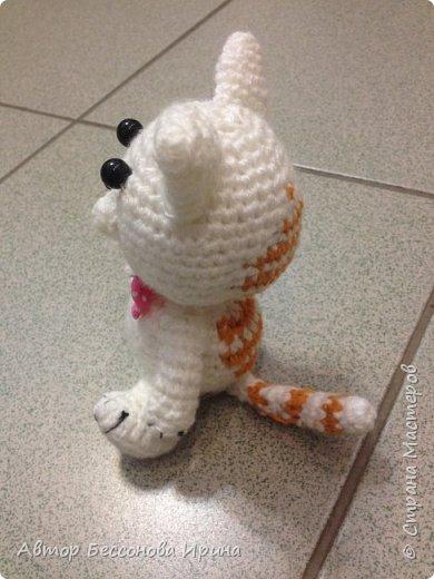 Вот такой милый Мурзик , моя первая вязаная игрушка.... фото 3