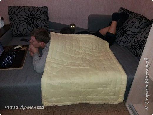 Сшила одеялко для дочки в стиле пэчворк. Размер 110х90 см. Лоскуты заготавливала сама по шаблону 10х10 фото 4