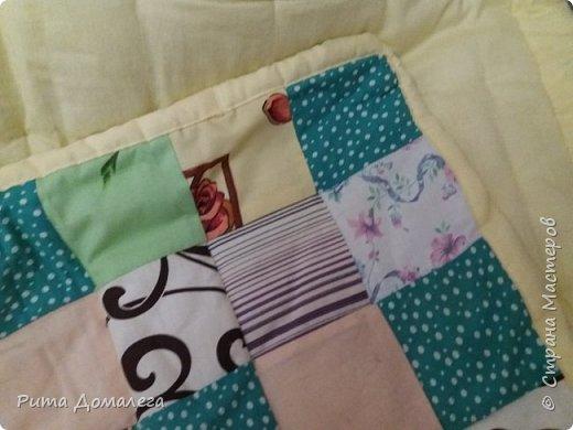 Сшила одеялко для дочки в стиле пэчворк. Размер 110х90 см. Лоскуты заготавливала сама по шаблону 10х10 фото 1