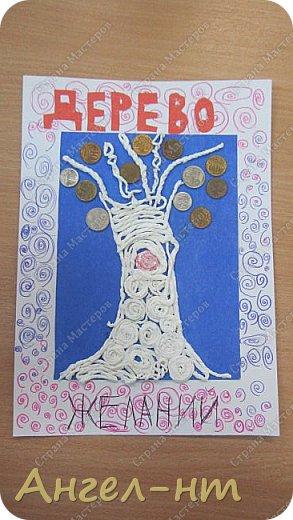 С ребятами на уроке крутили салфеточные жгутики, а затем превращали их в творческую работу - денежное дерево. Получились интересные работы.  фото 6