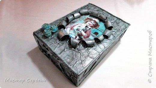 Винтажная шкатулка из картонной коробки