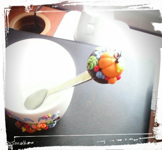 Кружка с ложкой для мамы. фото 2