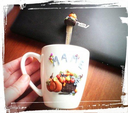 Кружка с ложкой для мамы. фото 1