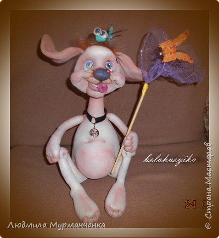 Пёсик Жорик и его друг -щенок с эрокезом.Выполнены по мк Е Лаврентьевой. PS сделала в компанию ещё девочку. фото 3