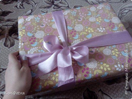 Всем привет. Совсем скоро у моей подруги день рождения и в это раз я решила приготовить ей HappyBirthdayBox. Это небольшая коробка, внутри которой подарки. В моей фантазии было большая коробка и большое количество подарков, но так получилось, что коробочка размером 39*29*11 см, а подарков всего три. фото 11