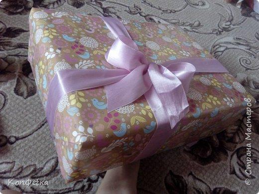 Всем привет. Совсем скоро у моей подруги день рождения и в это раз я решила приготовить ей HappyBirthdayBox. Это небольшая коробка, внутри которой подарки. В моей фантазии было большая коробка и большое количество подарков, но так получилось, что коробочка размером 39*29*11 см, а подарков всего три. фото 1