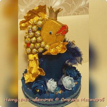 золотая рыбка из конфет фото 9
