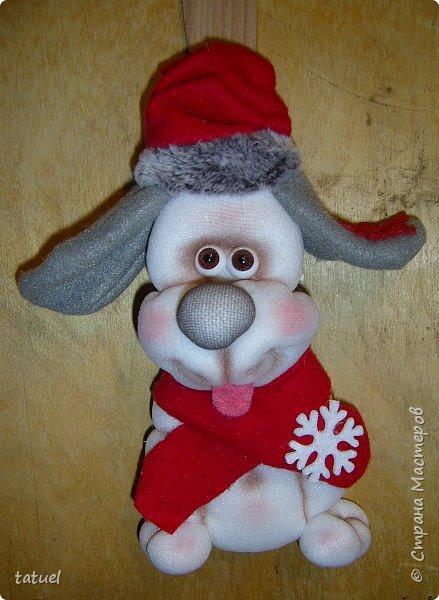 Всем доброго времени! В продолжении собачьей темы : собачонок в зимнем наряде на лопатке. фото 1