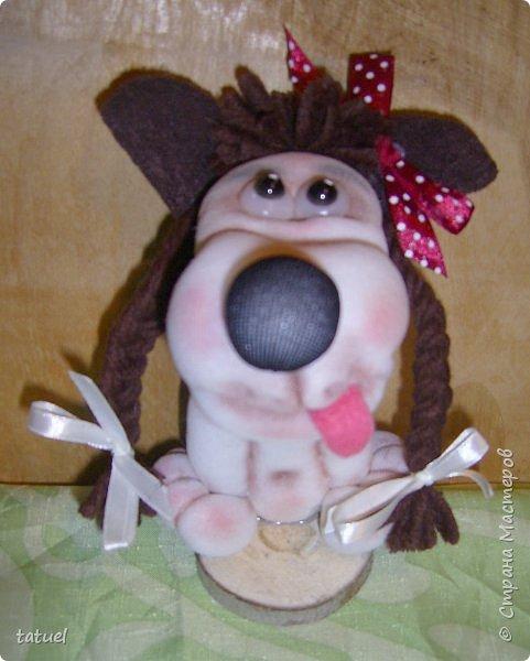 Всем доброго времени! В продолжении собачьей темы : собачонок в зимнем наряде на лопатке. фото 2