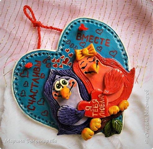 Здравствуй, любимая Страна))) Несу на твой суд свои новые вытворяшки)  Эта сладкая парочка птичек подсмотрена мною у Оленьки Родионовой...чуть-чуть и своя фантазия приложена и вот что получилось) фото 1