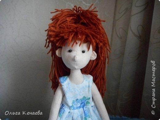 Очень понравилось шить куколок с носиками и ушками. Они получаются, на мой взгляд, очень добрые и трогательные. А букетик- поздравление с Днём рождения! фото 5