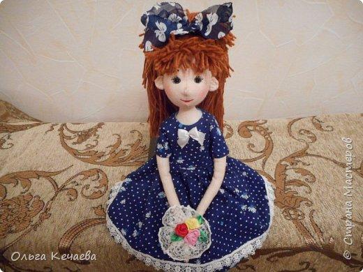 Очень понравилось шить куколок с носиками и ушками. Они получаются, на мой взгляд, очень добрые и трогательные. А букетик- поздравление с Днём рождения! фото 1
