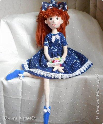 Очень понравилось шить куколок с носиками и ушками. Они получаются, на мой взгляд, очень добрые и трогательные. А букетик- поздравление с Днём рождения! фото 3