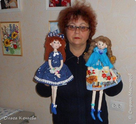 Очень понравилось шить куколок с носиками и ушками. Они получаются, на мой взгляд, очень добрые и трогательные. А букетик- поздравление с Днём рождения! фото 8