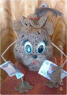 """Немного фантазии из шпагата))) Продолжение к МК """"Мышь-богатейка"""" фото 6"""