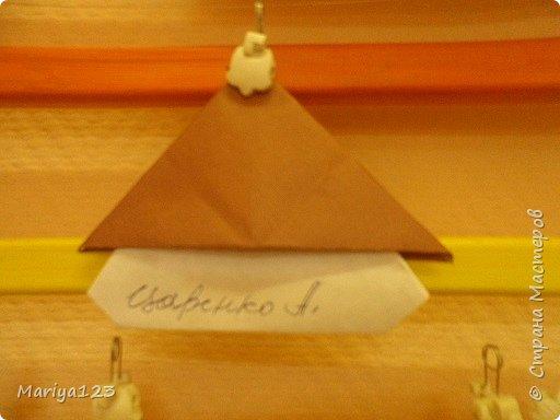 Добрый день всем заглянувшим! Предлагаю посмотреть работы моих деток. Мастерили грибочки в технике оригами, а ежика на полянке в технике аппликация. фото 3