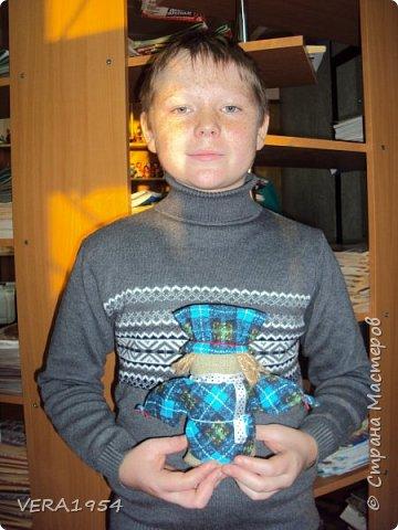 Добрый день!   Принимайте наших куколок Зернушку и Богача, изготовленных детьми с большой любовью. фото 6