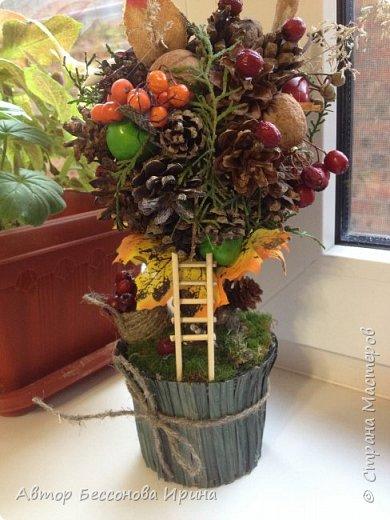 Это сказочное осеннее дерево было сделано по поводу выставки в школе фото 2