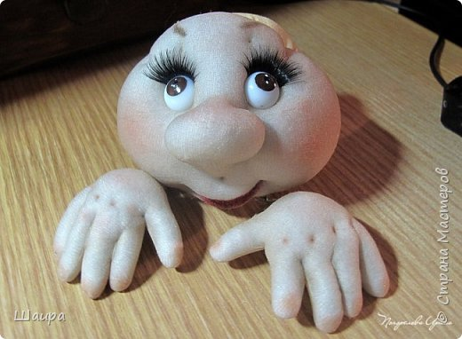 Кукла 47 см. Самостоятельно крепенько стоит. Голова и руки из капрона, тело и ножки  из ткани. фото 4