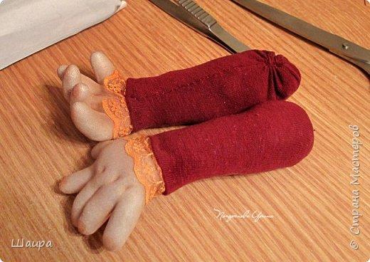 Кукла 47 см. Самостоятельно крепенько стоит. Голова и руки из капрона, тело и ножки  из ткани. фото 5