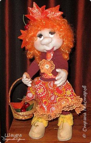 Кукла 47 см. Самостоятельно крепенько стоит. Голова и руки из капрона, тело и ножки  из ткани. фото 9