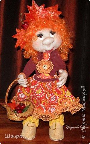 Кукла 47 см. Самостоятельно крепенько стоит. Голова и руки из капрона, тело и ножки  из ткани. фото 1