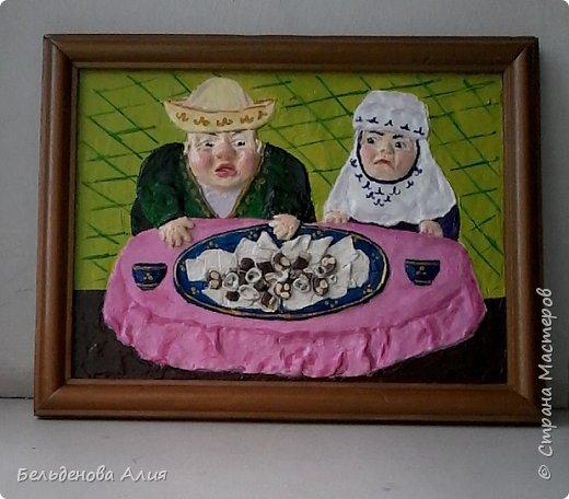 Бешпармак - это вкусно и просто. Картина для кухни, для улучшения аппетита, а чтобы не переедали, бабушка следит. фото 2