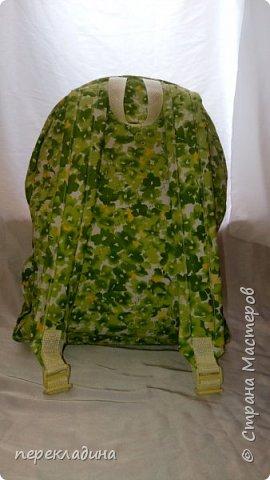 """Рюкзак """"Весеннее настроение""""? Наружный объемный карман, молнии рюкзака и кармана снабжены  декоративными кисточками. В торце рюкзака карман для сотового телефона. фото 2"""