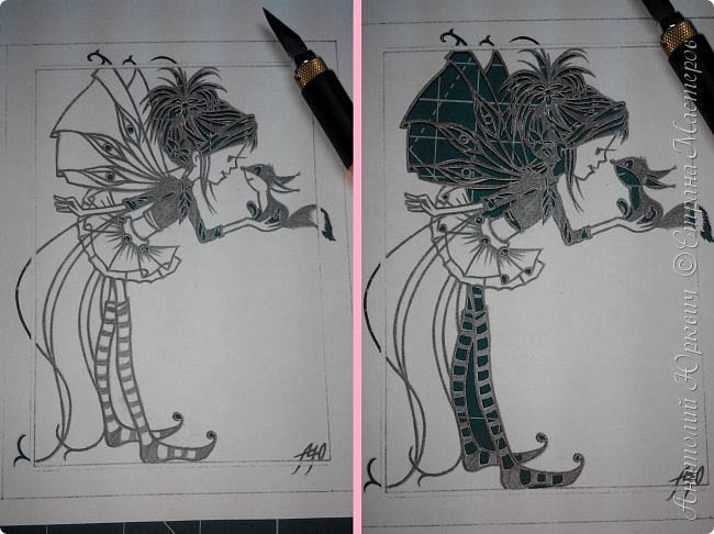 """- Всем добрый день! Вашему вниманию новая открытка которая порадует не только детей, но и взрослых. - Эскиз был выполнен, изменён и доработан под """"вырезалку"""" по работе детского художника-иллюстратора Марины Федотовой. - Размер 12х16см.(Как всегда) фото 2"""